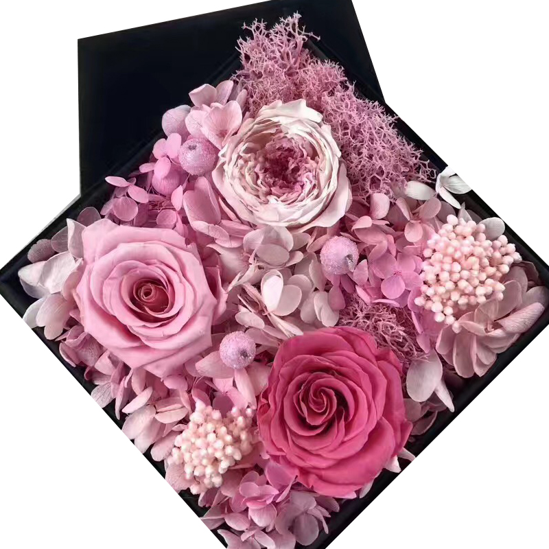 Preserved Flower Gift - Pink Assorted