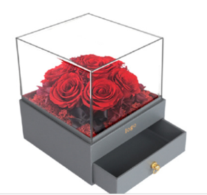 Acrylic box rose